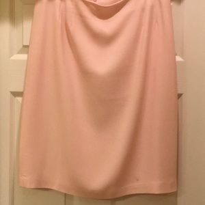 Pink straight skirt